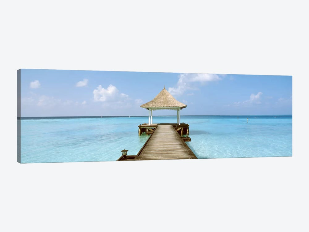Beach & Pier The Maldives  by Panoramic Images 1-piece Canvas Wall Art