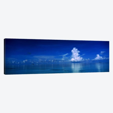 Sea & Clouds The Maldives Canvas Print #PIM1205} by Panoramic Images Canvas Artwork