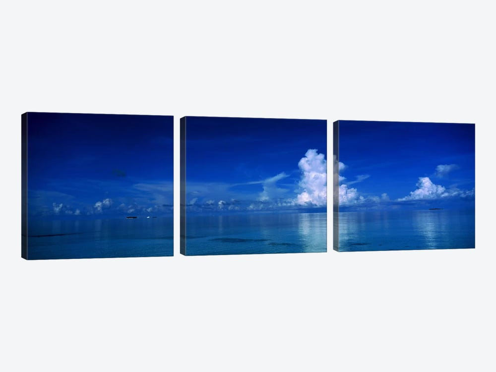 Sea & Clouds The Maldives by Panoramic Images 3-piece Canvas Wall Art