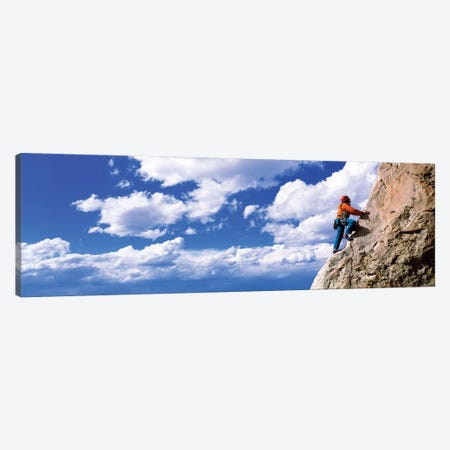 Rock Climbing Grand Teton National Park WY Canvas Print #PIM12070} by Panoramic Images Canvas Wall Art