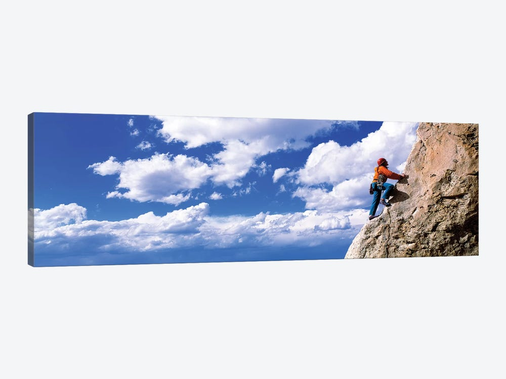 Rock Climbing Grand Teton National Park WY by Panoramic Images 1-piece Art Print