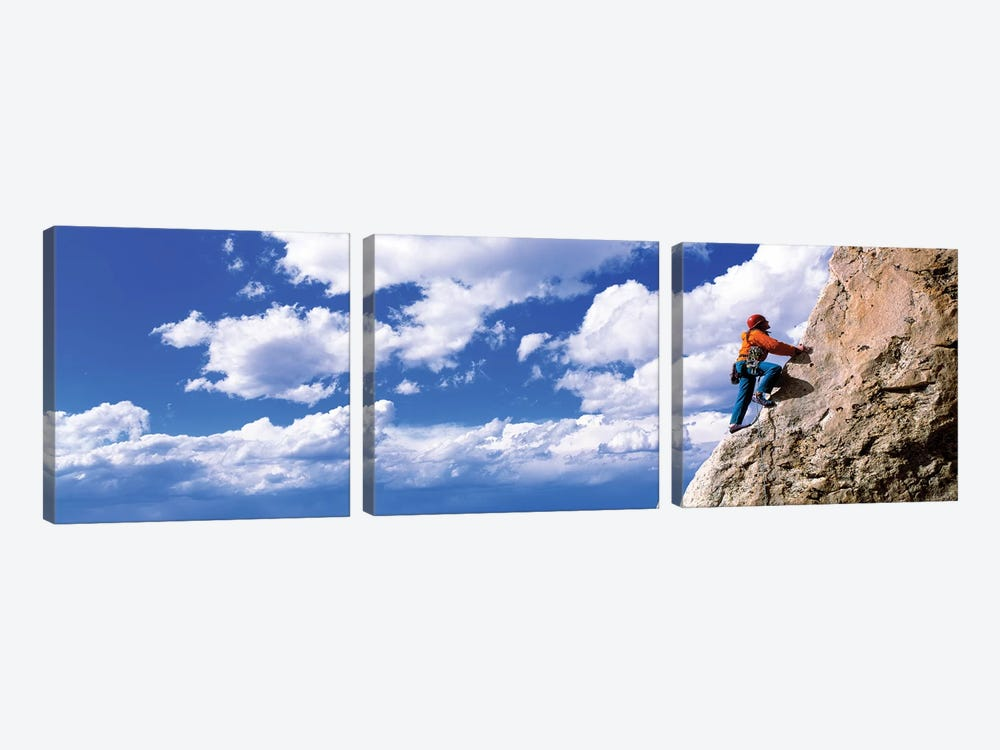 Rock Climbing Grand Teton National Park WY by Panoramic Images 3-piece Canvas Art Print