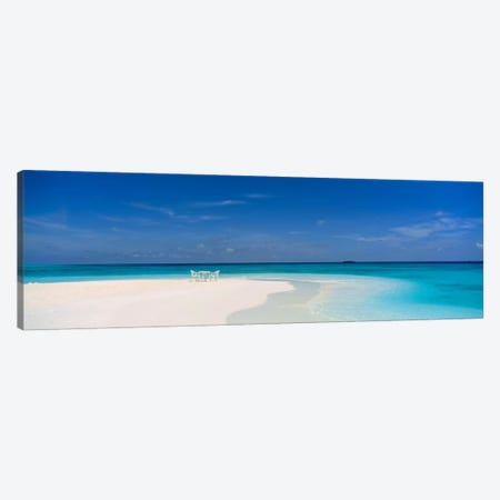 Beach Scene The Maldives Canvas Print #PIM1207} by Panoramic Images Canvas Wall Art