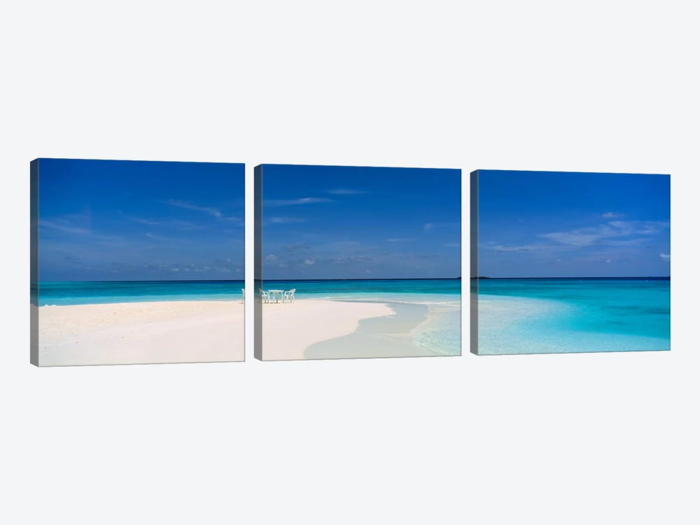 Beach Scene The Maldives by Panoramic Images 3-piece Canvas Artwork