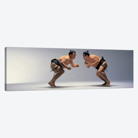Sumo Wrestlers Japan 3-Piece Canvas #PIM12082} by Panoramic Images Art Print
