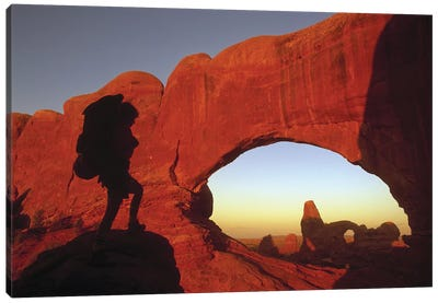 Mountaineering Arches National Park UT USA Canvas Art Print