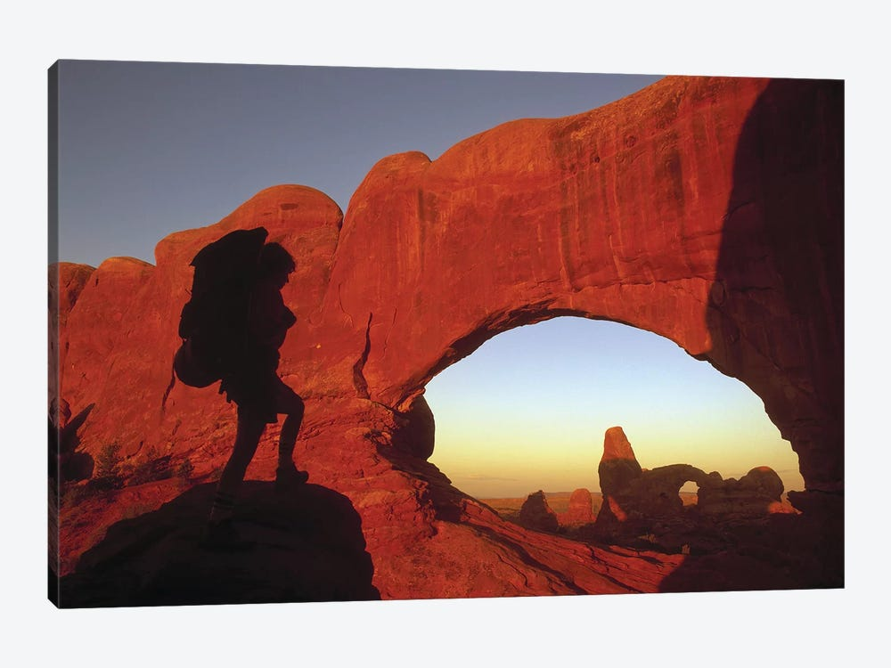 Mountaineering Arches National Park UT USA by Panoramic Images 1-piece Canvas Print