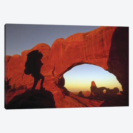 Mountaineering Arches National Park UT USA Canvas Print #PIM12087} by Panoramic Images Canvas Art