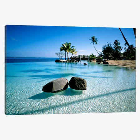 Resort Tahiti French Polynesia Canvas Print #PIM1208} by Panoramic Images Art Print