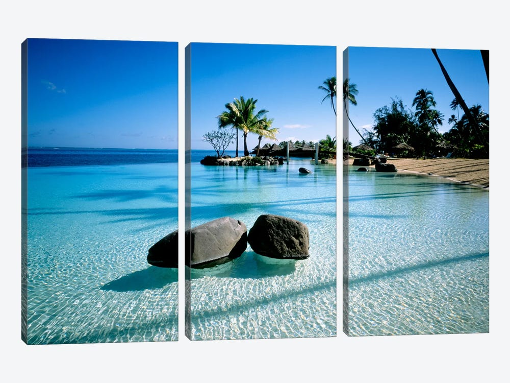 Resort Tahiti French Polynesia by Panoramic Images 3-piece Canvas Art Print