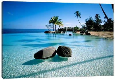 Resort Tahiti French Polynesia Canvas Art Print