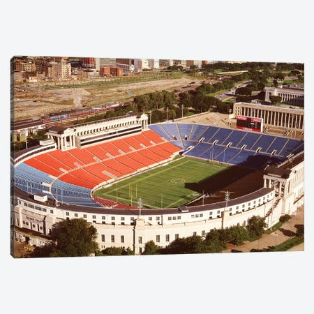 Aerial view of a stadium, Soldier Field, Lake Shore Drive, Chicago, Cook County, Illinois, USA Canvas Print #PIM12093} by Panoramic Images Canvas Art