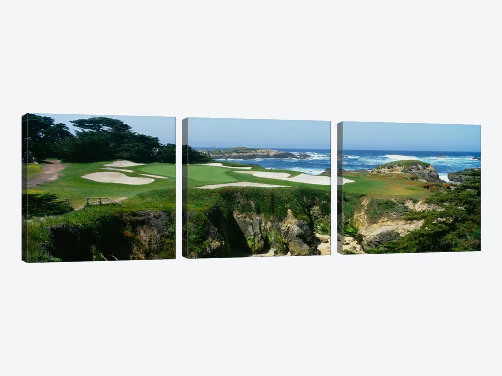 15th Hole I, Cypress Point Golf Course, Pebble Beach, California, USA by Panoramic Images 3-piece Canvas Art