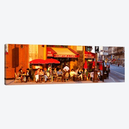Outdoor Cafe, Paris, France Canvas Print #PIM120} by Panoramic Images Art Print