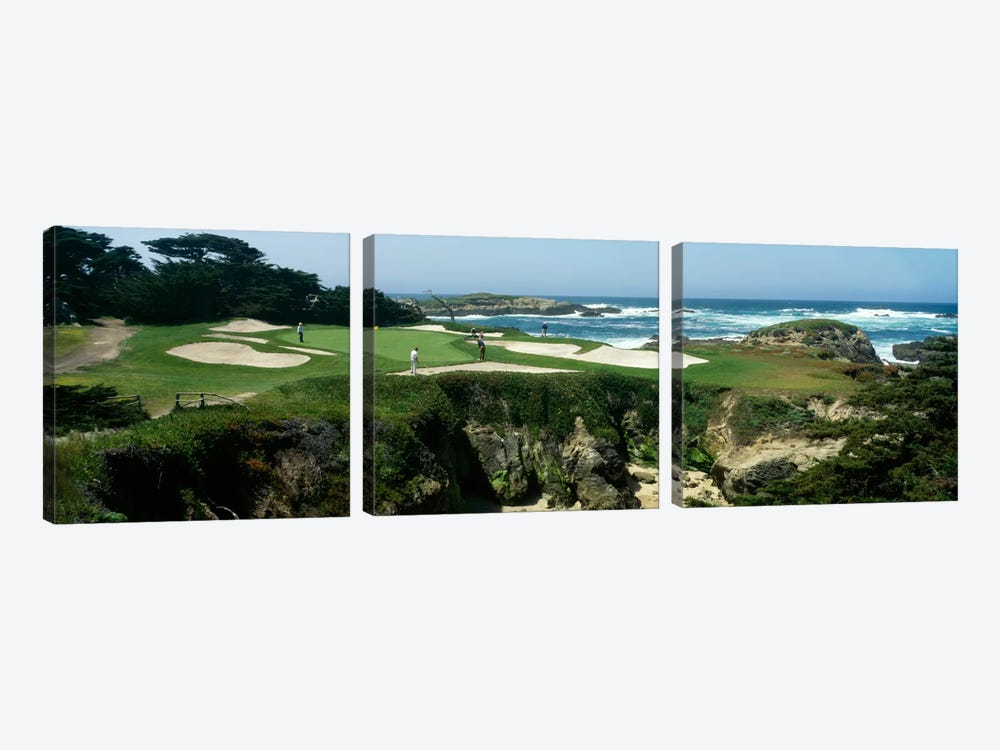 15th Hole II, Cypress Point Golf Course, Pebble Beach, California, USA by Panoramic Images 3-piece Art Print