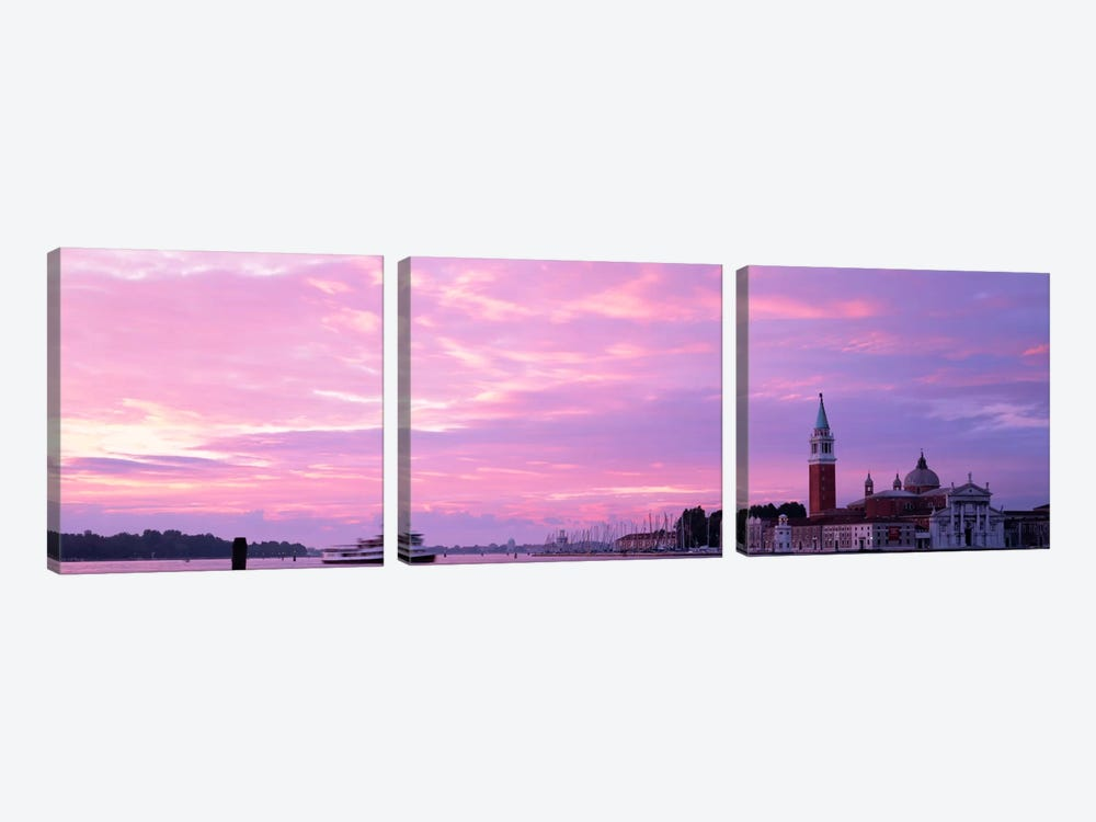 Church in a citySan Giorgio Maggiore, Grand Canal, Venice, Italy by Panoramic Images 3-piece Canvas Wall Art