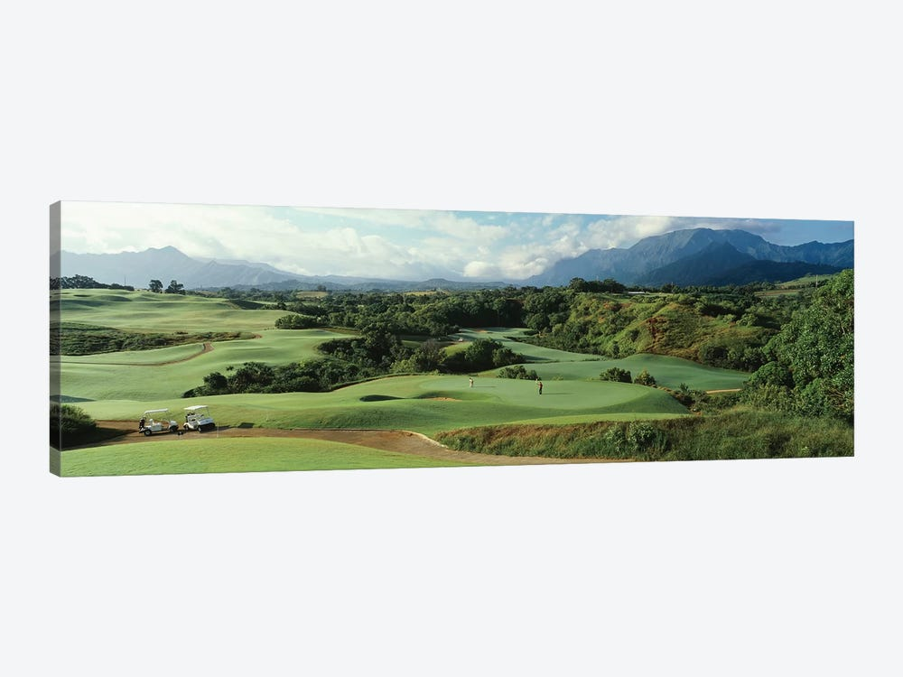 High angle view of a golf course, Princeville Golf Course, Princeville, Kauai County, Hawaii, USA by Panoramic Images 1-piece Art Print