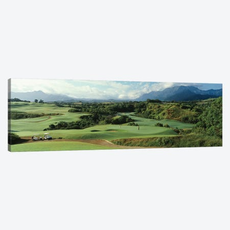 High angle view of a golf course, Princeville Golf Course, Princeville, Kauai County, Hawaii, USA Canvas Print #PIM12111} by Panoramic Images Art Print