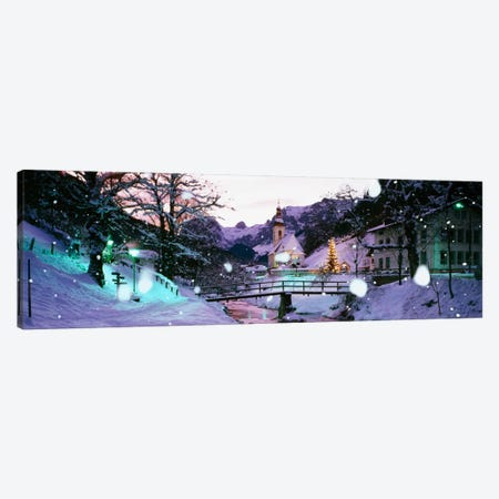 Church on a snow covered hillRothenburg, Bavaria, Germany Canvas Print #PIM1211} by Panoramic Images Canvas Artwork