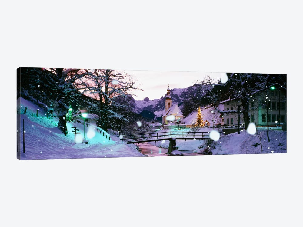 Church on a snow covered hillRothenburg, Bavaria, Germany by Panoramic Images 1-piece Art Print
