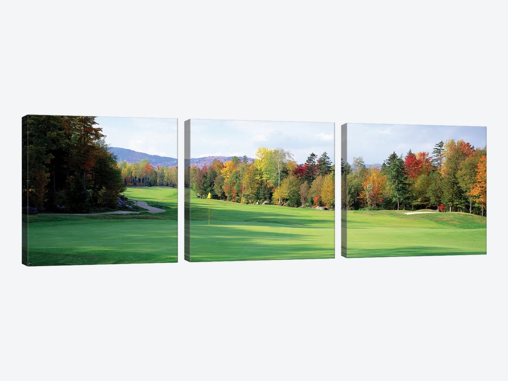 New England Golf Course New England USA by Panoramic Images 3-piece Canvas Art Print