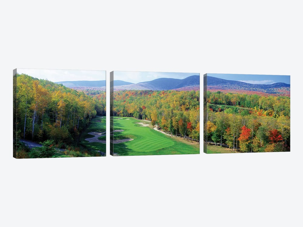 High Angle view of New England Golf Course New England USA 3 3-piece Canvas Artwork