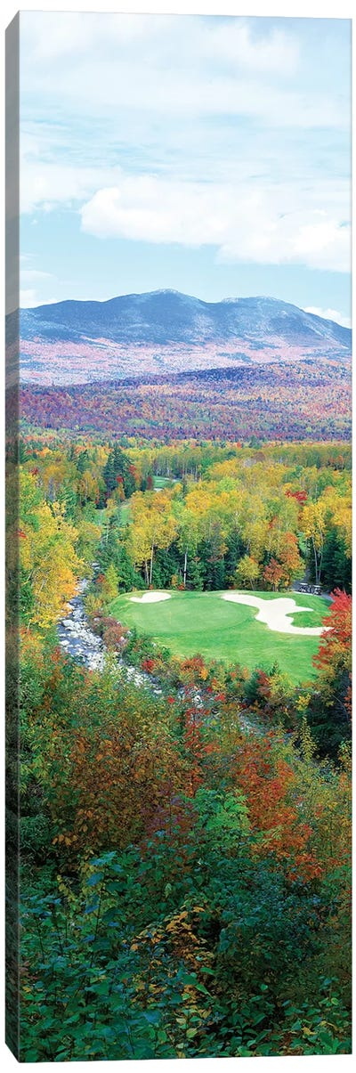 High Angle view of New England Golf Course New England USA 6 Canvas Art Print