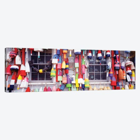 Storefront, Newcastle, Maine, USA 3-Piece Canvas #PIM12126} by Panoramic Images Canvas Print
