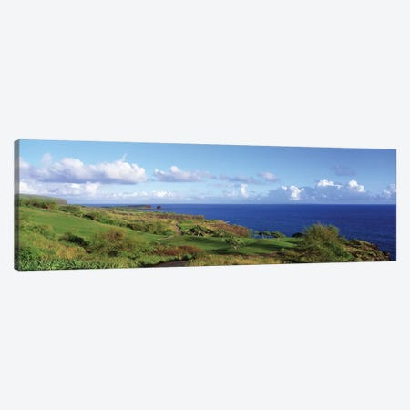 Golf Course, Manalee Bay, Lanai, Hawaii, USA Canvas Print #PIM12128} by Panoramic Images Canvas Artwork