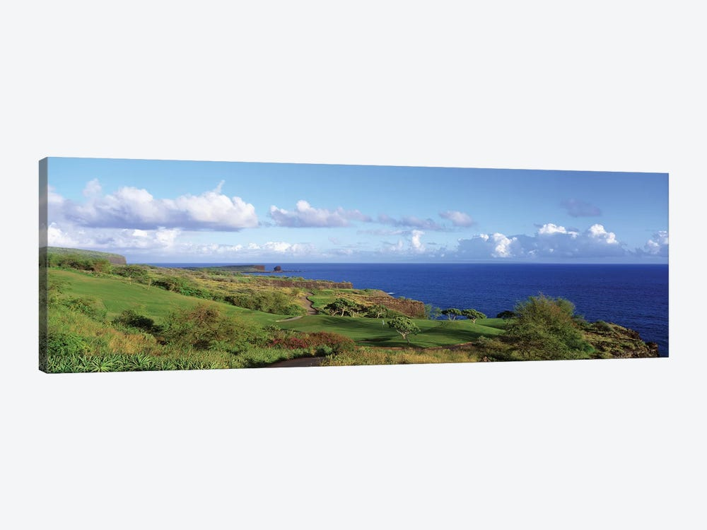 Golf Course, Manalee Bay, Lanai, Hawaii, USA by Panoramic Images 1-piece Canvas Art Print