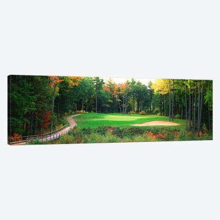Secluded Hole On An Autumn Day, New England, USA Canvas Print #PIM12138} by Panoramic Images Canvas Print