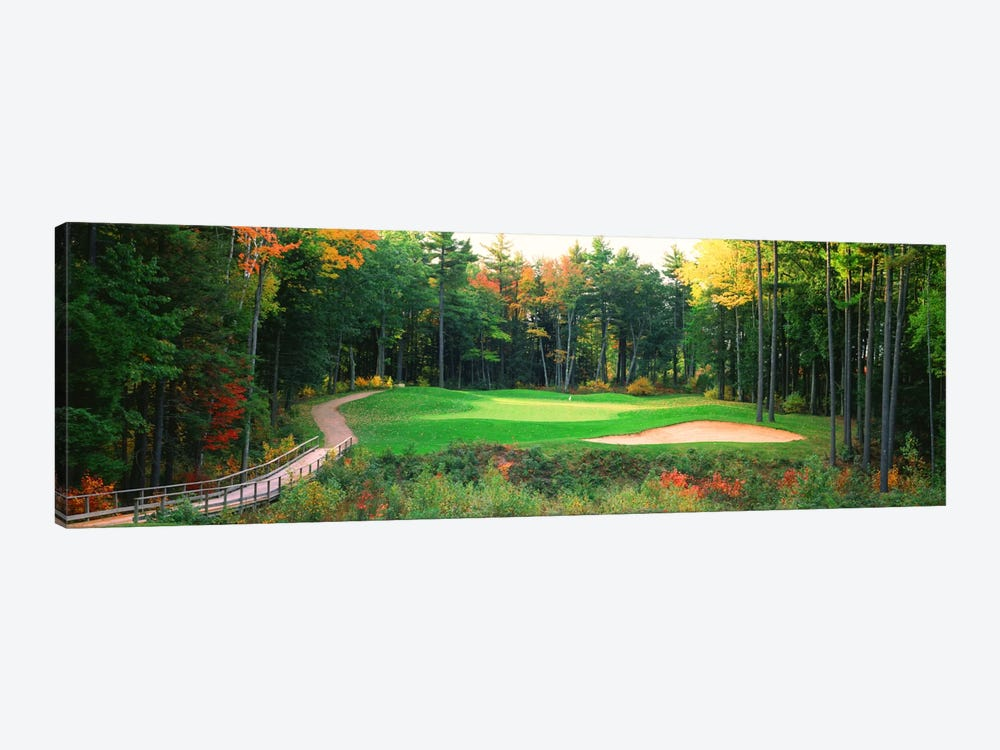 Secluded Hole On An Autumn Day, New England, USA by Panoramic Images 1-piece Canvas Wall Art