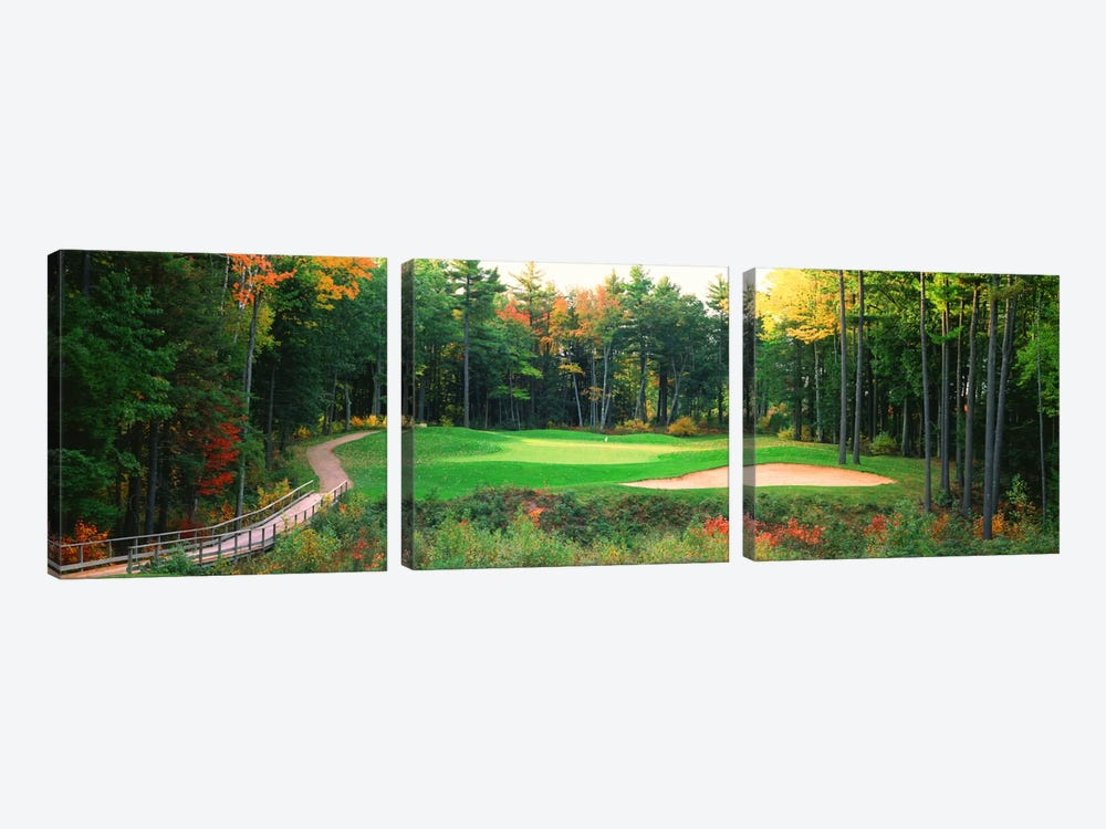 Secluded Hole On An Autumn Day, New England, USA by Panoramic Images 3-piece Canvas Artwork