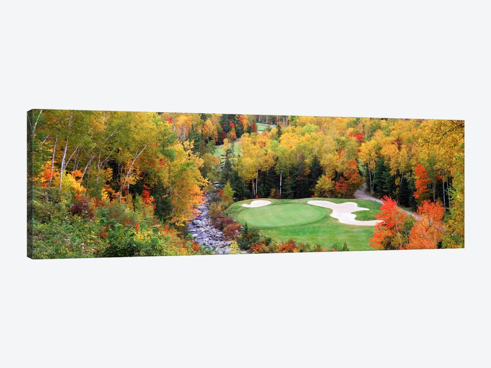 Creekside Green On An Autumn Day, New England, USA by Panoramic Images 1-piece Canvas Art Print