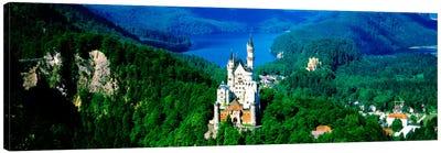 Aerial View, Neuschwanstein Castle, Schwangau, Bavaria, Germany Canvas Print #PIM1213