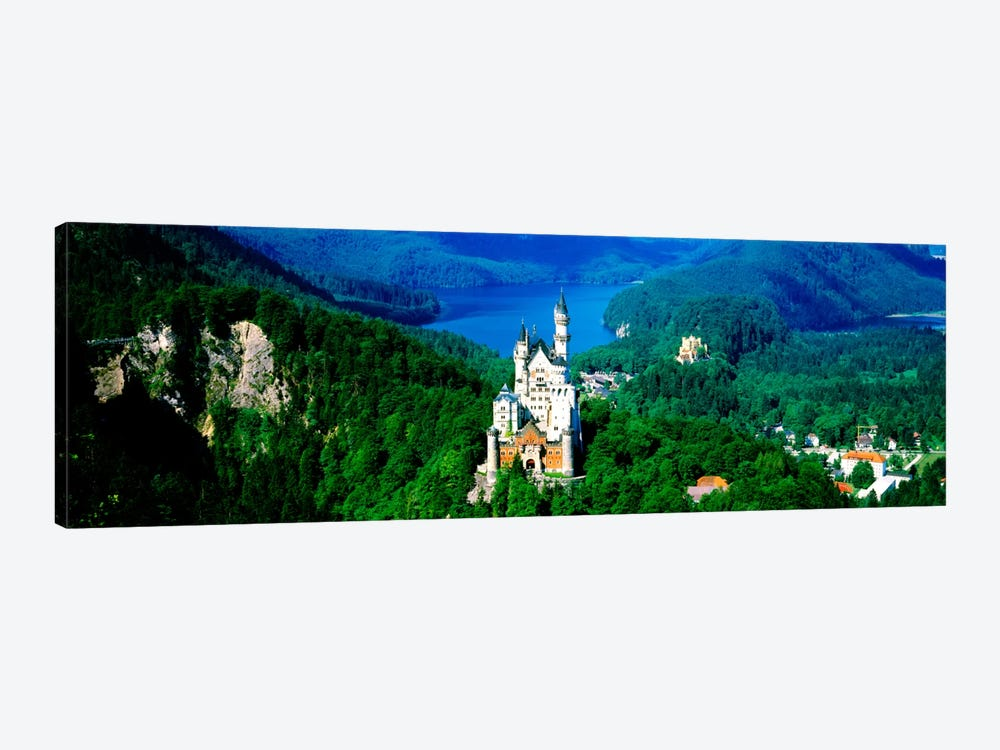 Aerial View, Neuschwanstein Castle, Schwangau, Bavaria, Germany by Panoramic Images 1-piece Canvas Print
