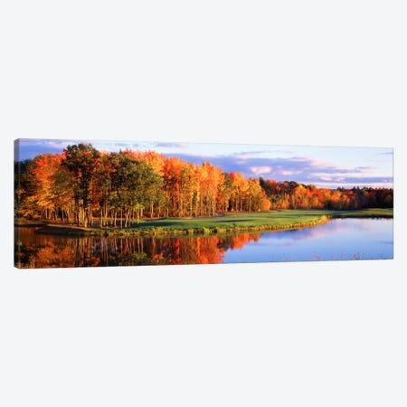 Autumn Golf Course Landscape, New England, USA Canvas Print #PIM12140} by Panoramic Images Canvas Art