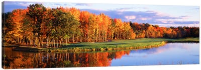 Autumn Golf Course Landscape, New England, USA Canvas Art Print