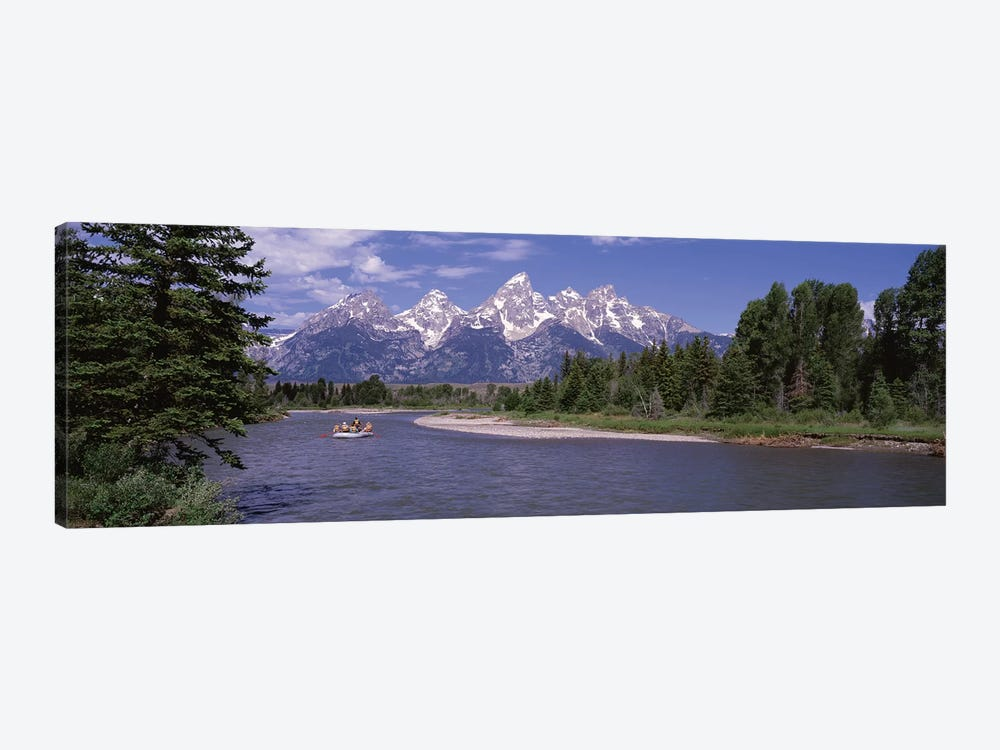 Inflatable raft in a river, Grand Teton National Park, Wyoming, USA by Panoramic Images 1-piece Canvas Wall Art