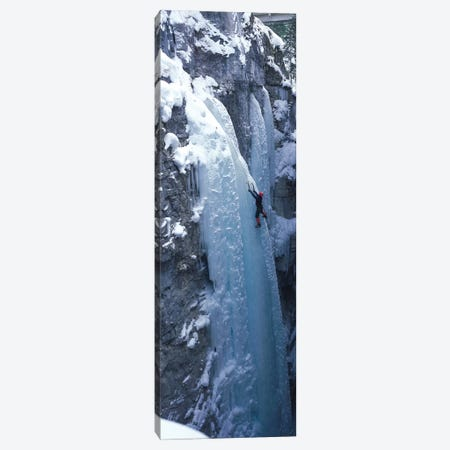 Ice Climber Marble Canyon Kootenay National Park British Columbia Canada Canvas Print #PIM12146} by Panoramic Images Canvas Art Print