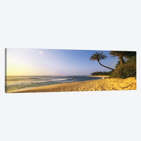 Surfer on Beach HI Canvas Print #PIM12153} by Panoramic Images Canvas Art Print