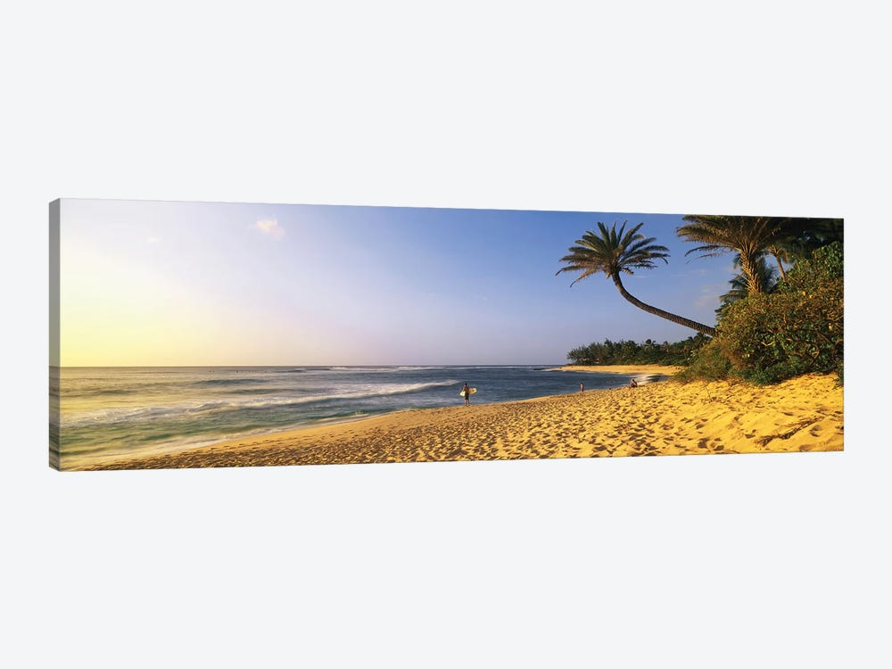 Surfer on Beach HI by Panoramic Images 1-piece Canvas Art Print