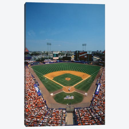 High Angle view of Mets Game at Shea Stadium Canvas Print #PIM12157} by Panoramic Images Canvas Artwork