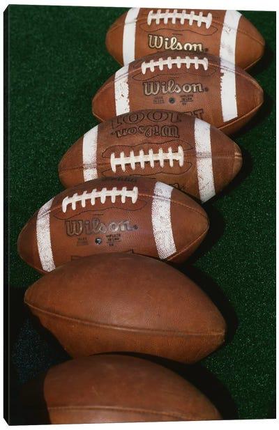 Row Of Game-Used Footballs, Blaik Field At Michie Stadium, U.S. Military Academy At West Point, New York, USA  Canvas Print #PIM12161