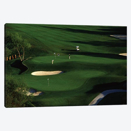 Golfer Putting on the Green Canvas Print #PIM12164} by Panoramic Images Art Print