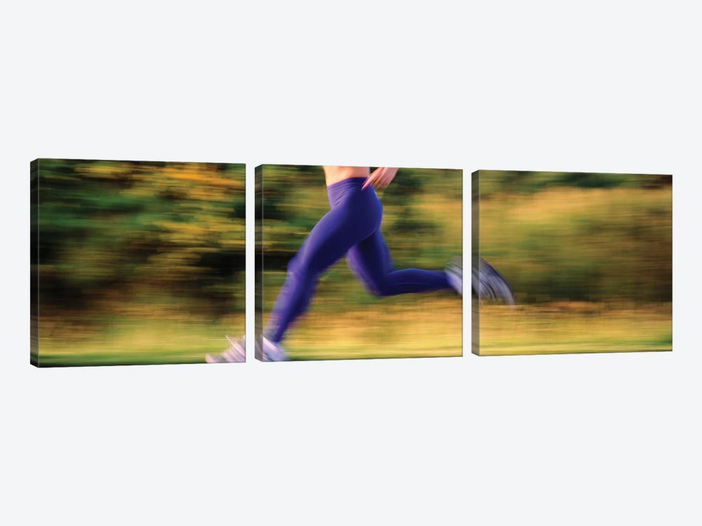 Low section of a female athlete by Panoramic Images 3-piece Canvas Print