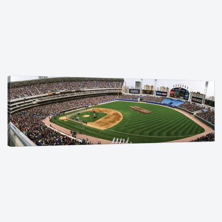 Spectators in a baseball stadium, Comiskey Park, Chicago, Illinois, USA Canvas Print #PIM12202} by Panoramic Images Art Print