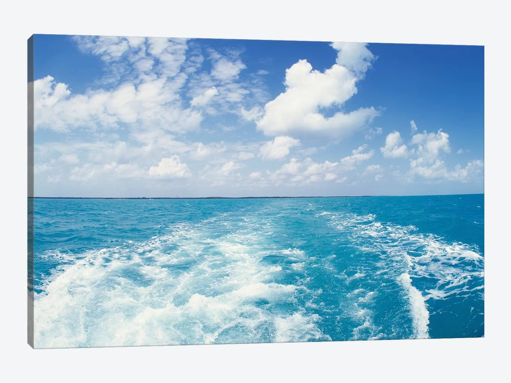 Atlantic Ocean and Boat Wake Florida Keys FL by Panoramic Images 1-piece Canvas Art Print