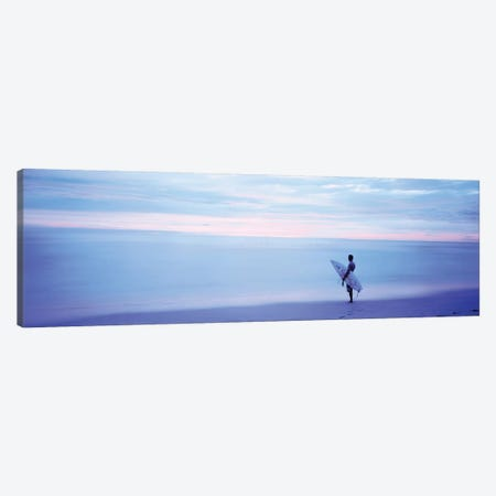 Man With Surfboard on Beach Costa Rica Canvas Print #PIM12211} by Panoramic Images Canvas Art