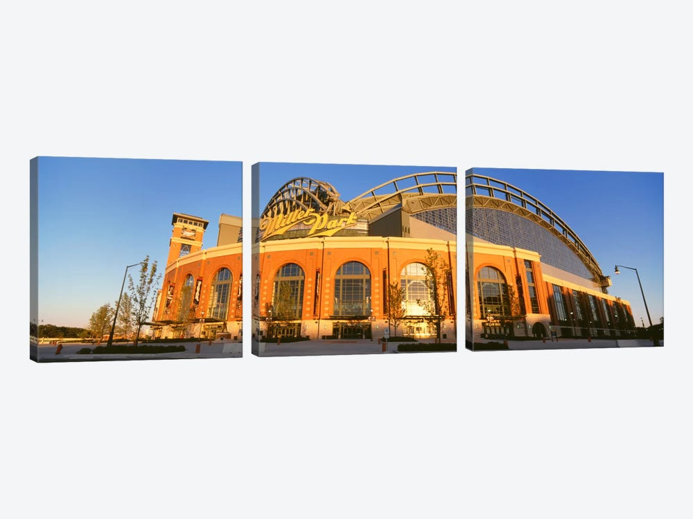 Miller Park, Milwaukee, Wisconsin, USA by Panoramic Images 3-piece Canvas Artwork